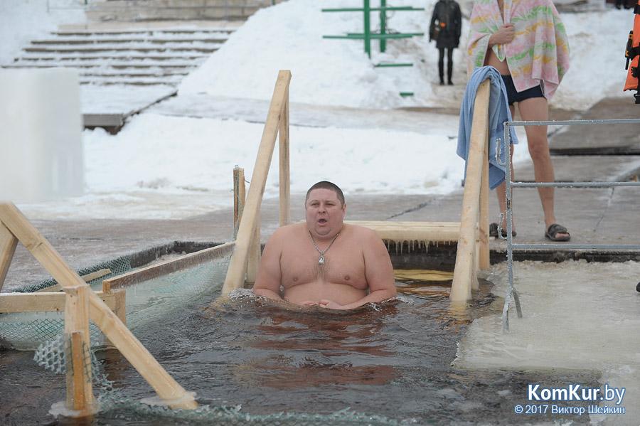 Фотофакт: Крещенское купание в Бобруйске