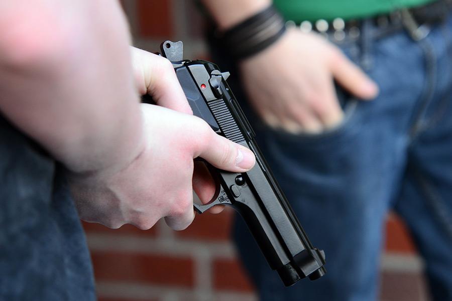 Картинки пистолет угроза