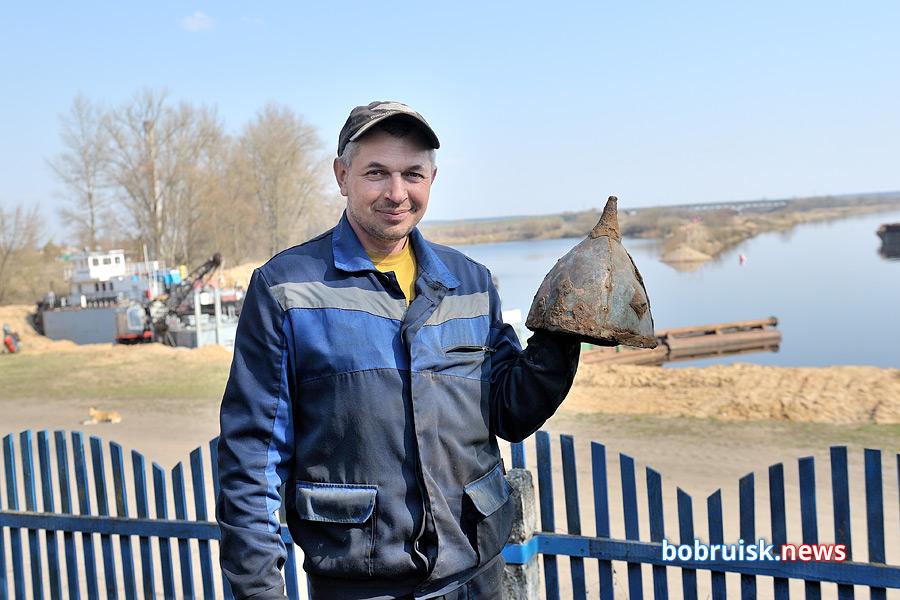 Древнерусский шлем найден в Бобруйске на берегу Березины!