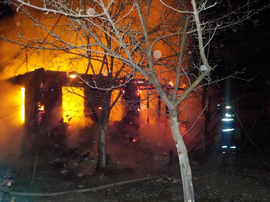 Страшный пожар полностью уничтожил дачу под Бобруйском