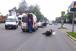 Авария на Минской: пострадал мотоциклист