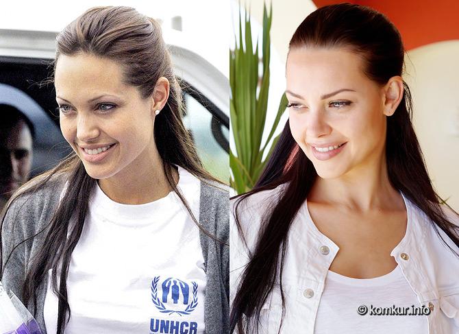 Алёна Сущинская похожа на Анджелину Джоли