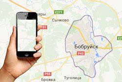 Бобруйские автобусы на экране смартфона