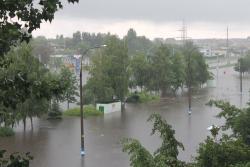«Коммерческий» на связи: Потоп возле  Бобруйки