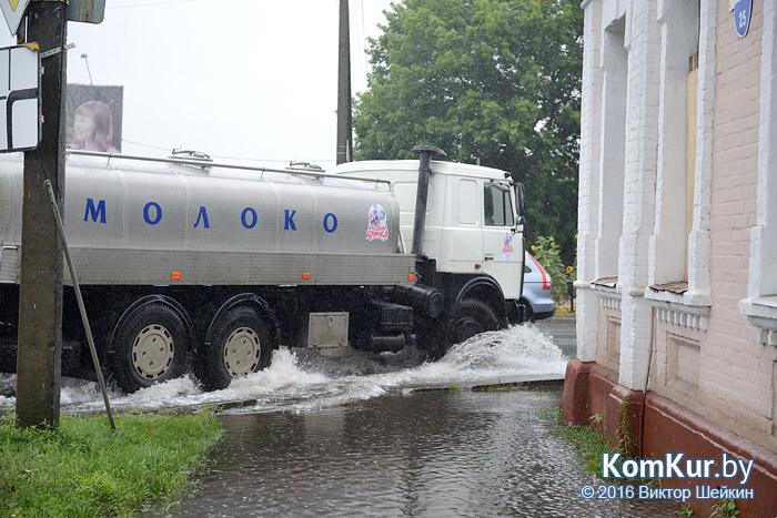 Бобруйск залит дождями