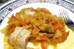 Вкусный пост: рыба, запеченная в капусте