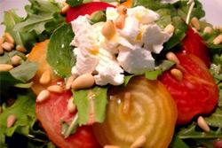 Вкусный пост: салат изфасоли спеченой свеклой