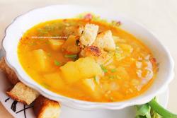 Вкусный пост: постный гороховый суп