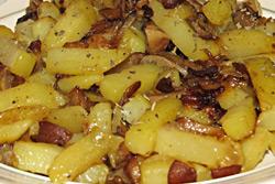 Вкусный пост: картофель ссолеными грибами
