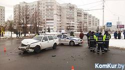 В Бобруйске автомобиль ГАИ вновь попал в ДТП