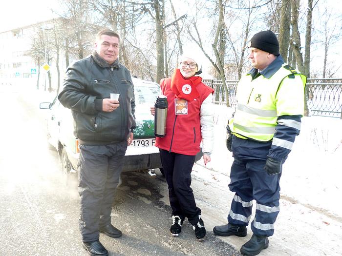 Бобруйская милиция помогала замерзшим