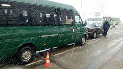 В Бобруйске маршрутка с пассажирами попала в ДТП