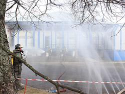 25 февраля на территории ЗАО «СантаХолод» прошли учебные занятия по ликвидации возможных чрезвычайных ситуаций. Учения проходили в рамках Единого дня безопасности.