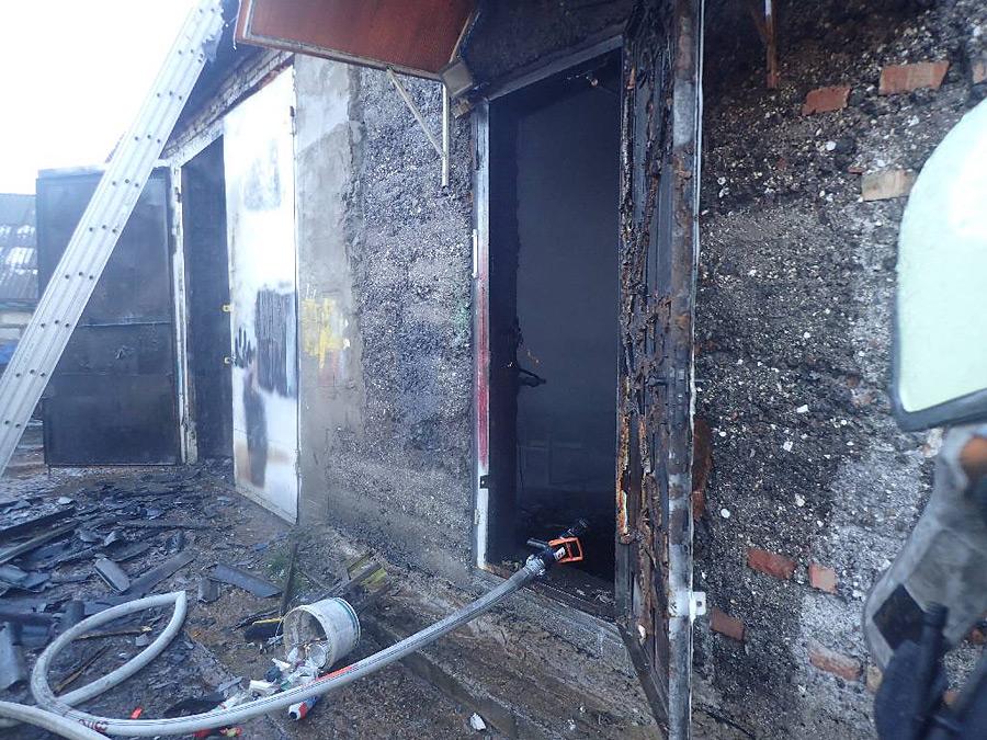 Пожар в садовом товариществе под Бобруйском