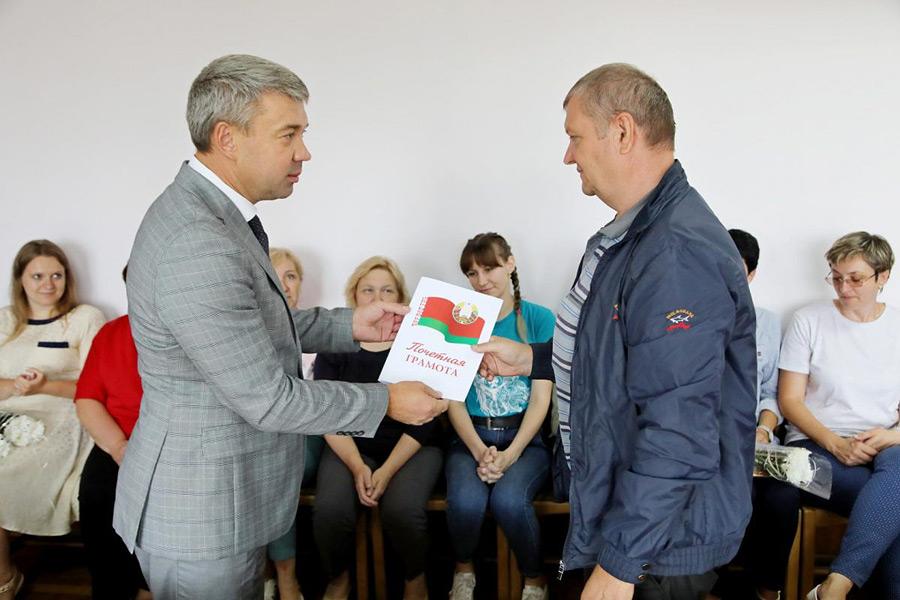 В Бобруйске наградили строителей